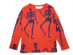Mini Rodini t-shirt red skeleton